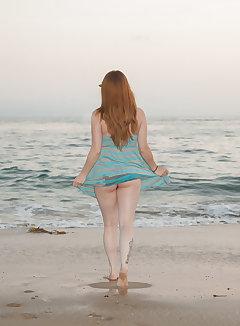 Nude beach upskirt