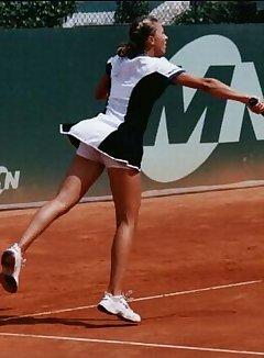 Nude tennis upskirt